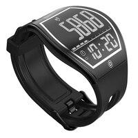 Kurve Oberfläche Touchscreen schlaf-tracker Pedometer Drahtlose Lade Bluetooth Fitness Männer Sport E-tinte E-Papier Digitalen Smart Uhr