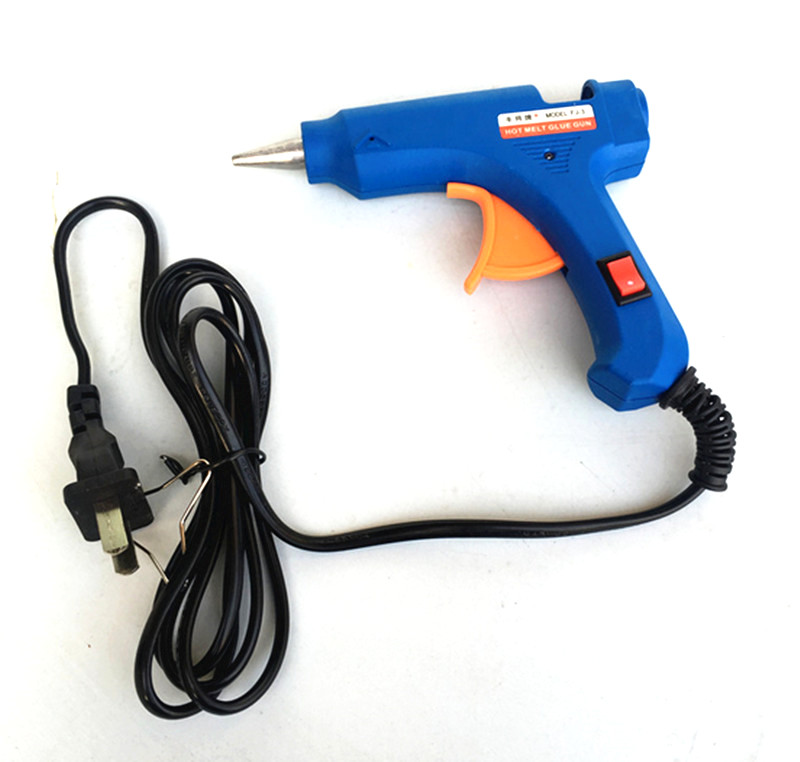 New 20W Hot Stick Heater Trigger EU Plug Electric Melt Glue Gun Repair Tool Best Quality best price mgehr1212 2 slot cutter external grooving tool holder turning tool no insert hot sale brand new