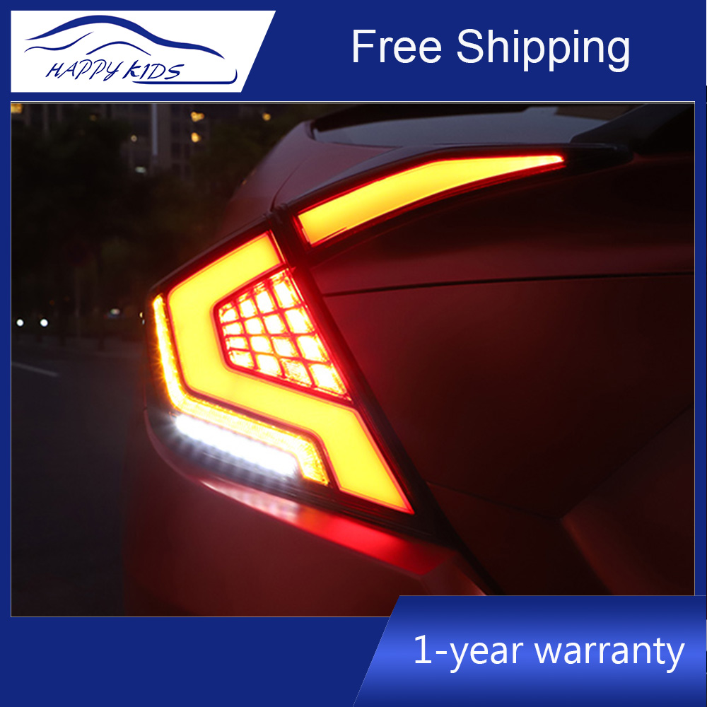 Car Styling Led Rear Tail lights For Honda Civic 10G 2016 2019 Led Tail light rear