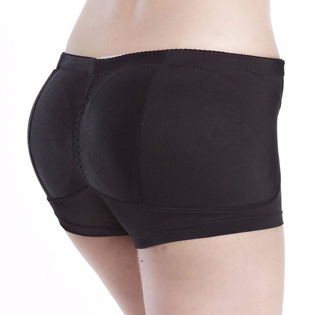 aee46d095db Black Plus size Women booty Butt Enhancer padded hip and buttock hip  booster boxer boyshort padded panty fake ass underwear P03B