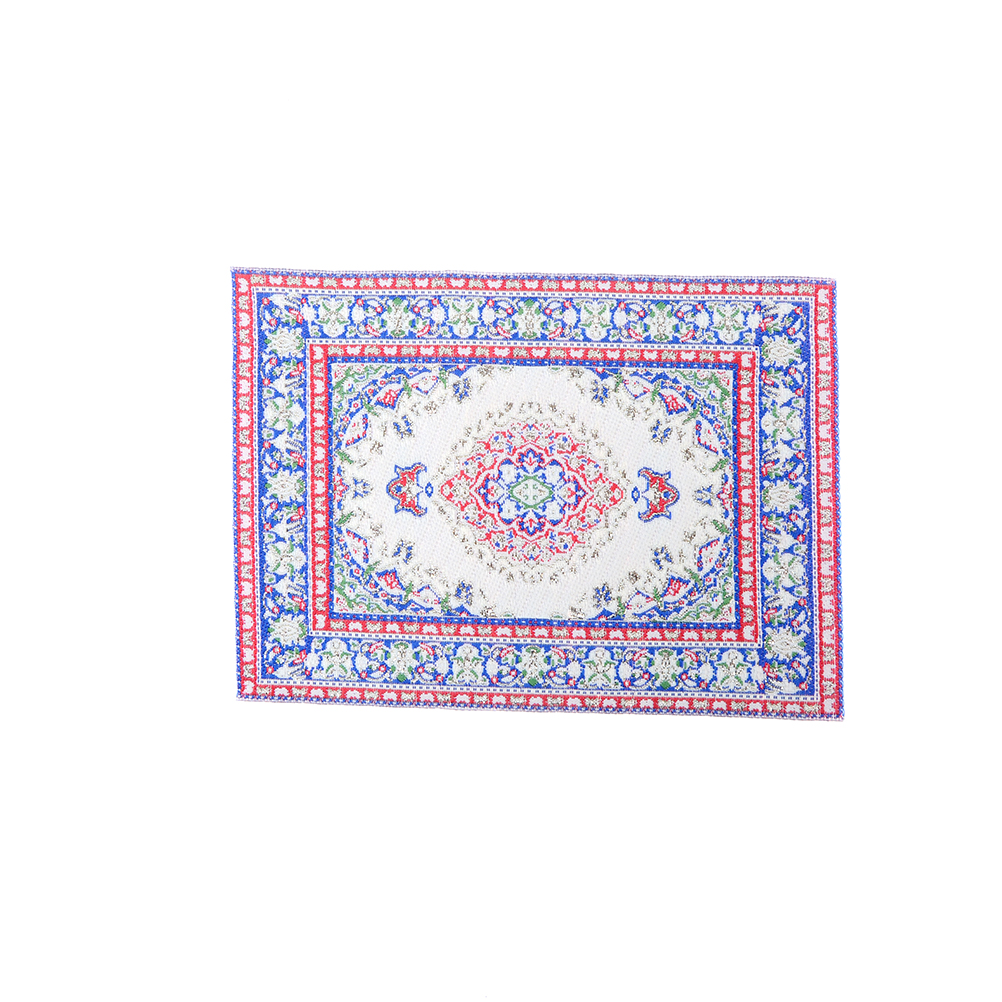 15*10 Cm Woven Floral Rug Floor Coverings Gifts Miniatures Crafts 1:12 Dollhouse Miniature Embroidered Carpet