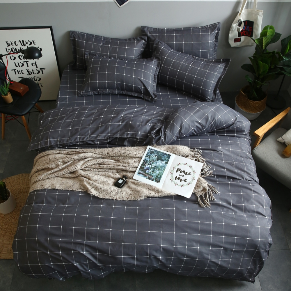 Bed-Sheet Bedding-Sets Duvet-Cover Pillowcase Fink-Lover Family-Set Gift Stripe Boy Men
