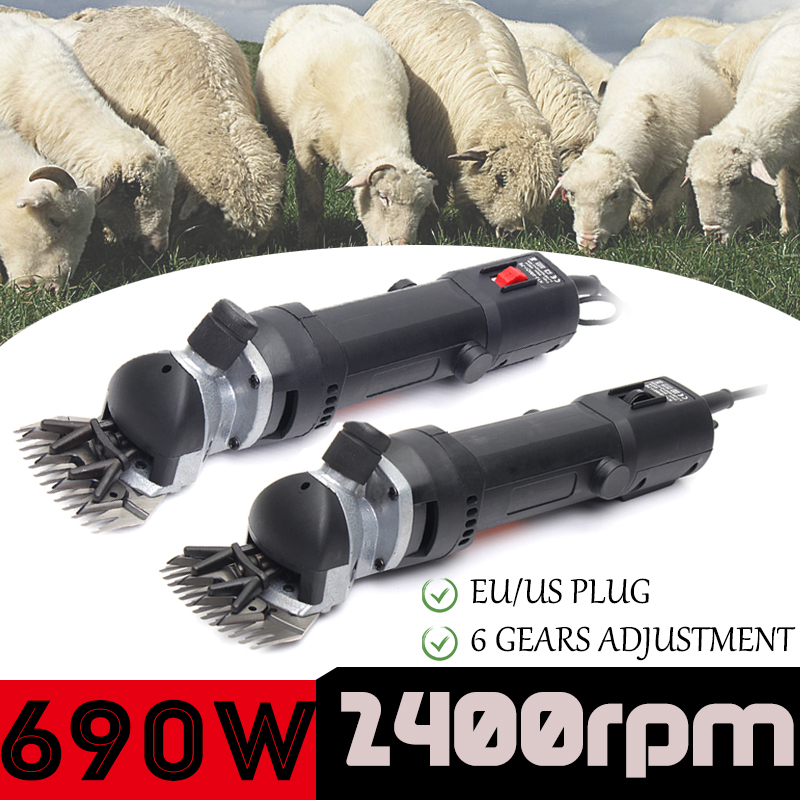 690W Electric Sheep Shearing Clipper Scissors Shears Cutter Goat Horse Clipper Machine 13 teeth blade 110V-240V 6 Gears Speed электрическая плита hansa fcew 53001