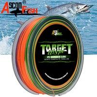 Ascon Vis PE 8 Strengen Gevlochten Lijn 500 m 8 Strand Multifilament Vislijn 547yd Japan Touw 6-300LB Multi kleur