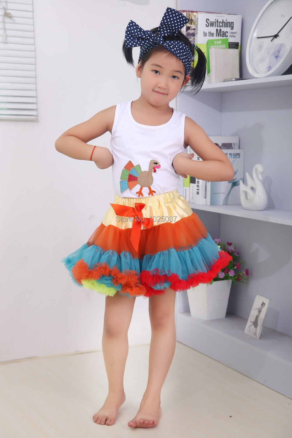 d9490105136f Kids Girls Pretty Thanksgiving Design Clothes Set Outfits With ...