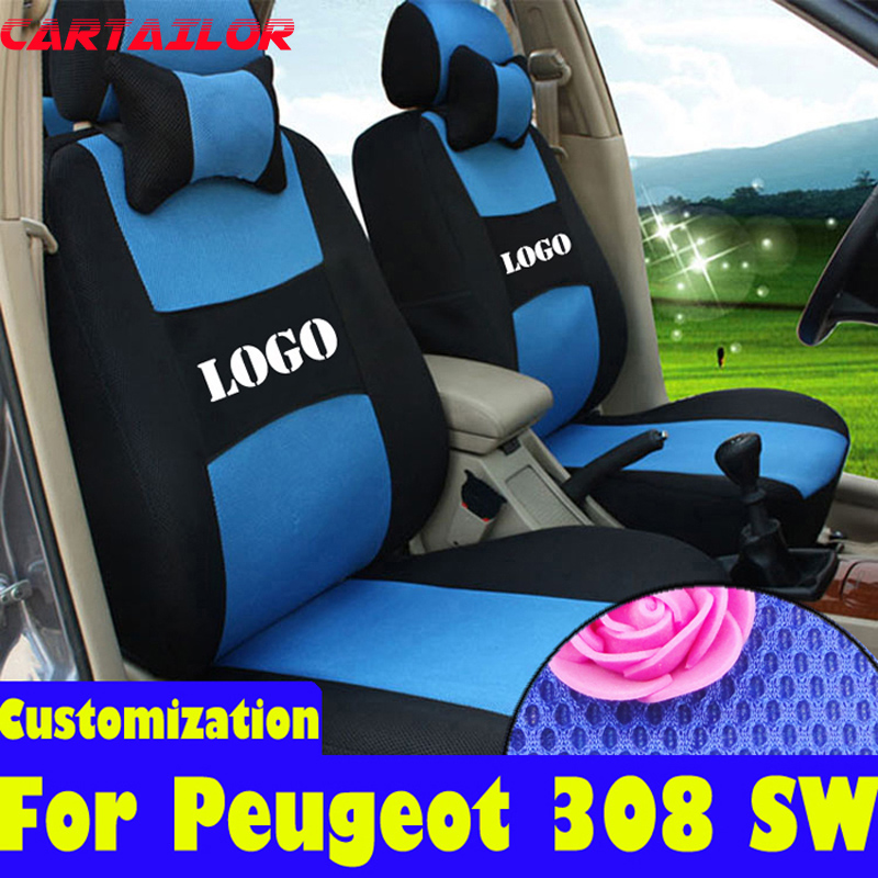 CARTAILOR automobiles seat covers for peugeot 308 accessories sandwich car seats for Peugeot 308 SW cover car seats protection
