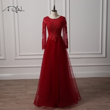 ADLN Scoop Long Sleeve Evening Dress Beaded A-line. US  110.40   piece Free  Shipping c33c098029b3