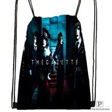 Custom Yruha the Gazette Drawstring Backpack Bag Cute Daypack Kids Satchel (Black Back) 31x40cm#180531-04-11