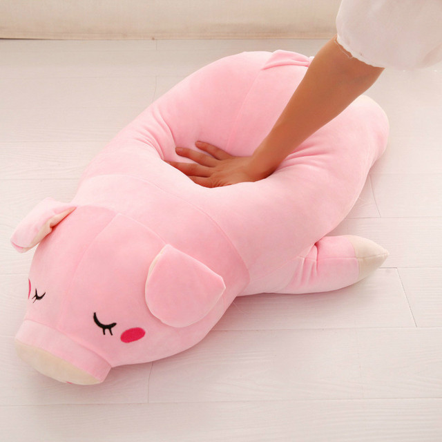 Cute Soft  Down Cotton Pig  Plush Doll Stuffed Pink Pig Doll Baby Software Pillow  Gift for Girlfriend 1pc 17.7in