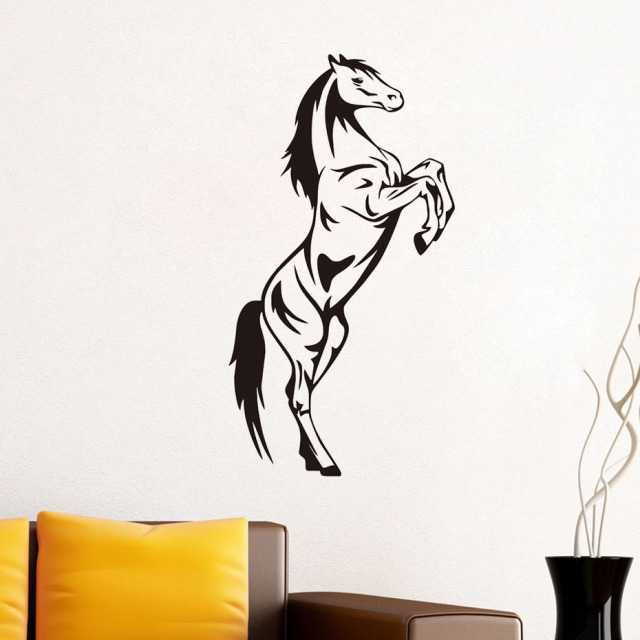DCTOP Jumping Horse Wall Stickers For Kids Room Animal Wall Decals Vinyl  Self Adhesive Wallpaper Living