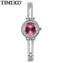 2016 Time100 Women's Quartz Watches Dress Watch Skeleton Bracelet  Diamond Dial Ladies Wrist Watches For Women relogio feminino