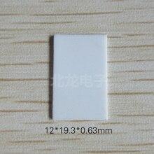 100 peças PARA 220 Folha de Cerâmica De Alumina Porosa 12*19.3*0.63 milímetros Isolamento de Cerâmica Dissipador De Calor 96 material