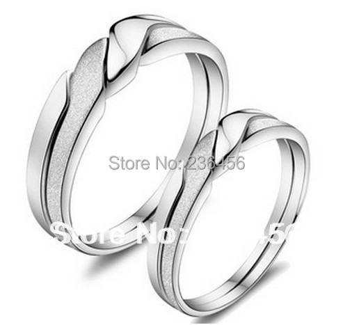 US $11 99 |Silver Plated male female couple ring two rings wind together  never to be separated lovers' ring 1pair-in Rings from Jewelry &  Accessories