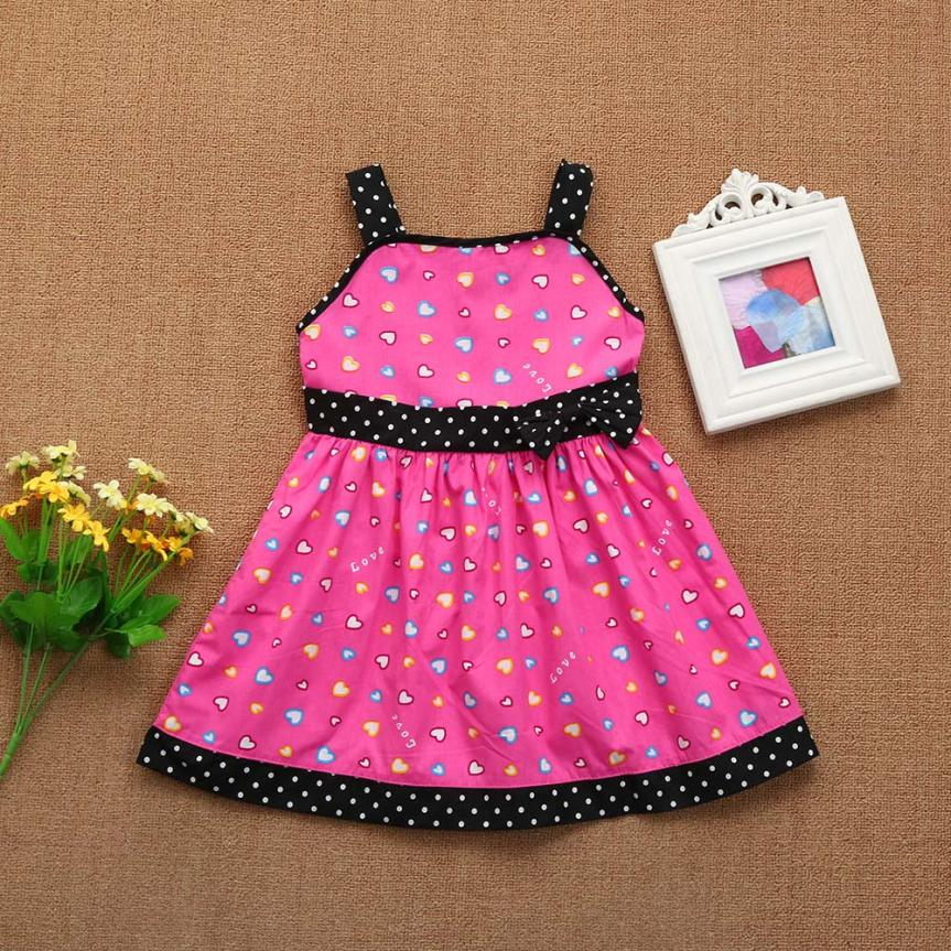 Toddler Infant Kids Baby Girl Clothes Heart Dot costume for girls princess Party Dresses Outfits clothes for girls 5 years new girls dress spring children clothing infant princess dresses for girls baby girl clothes costume for kids
