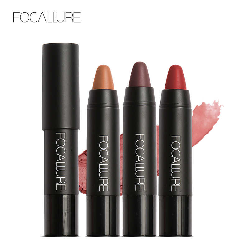 FOCALLURE 19 Colori Impermeabile di Lunga Durata Lip Makeup Rossetto Rosso Matte Lip Stick Colori Sexy
