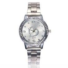 Простые Модные женские часы с сетчатым ремешком роскошные большие