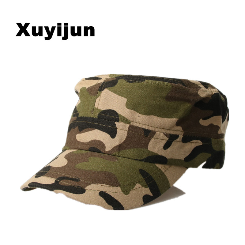 цена на XUYIJUN Camo Camouflage Snapback Caps 2017 New Gorras  Hip Hop Hats For Men Baseball Cap Army dad Caps bones