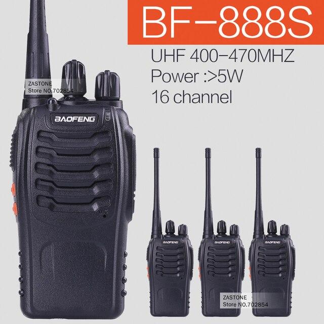 4PCS/lot  BaoFeng BF-888S Handheld Transceiver UHF 5W 400-470MHz 16CH Cb Radio Two Way radio Walkie Talkie