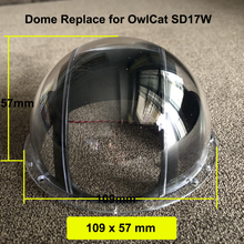 4 بوصة عدسة الأكريليك كاب الزجاج غطاء وقائي نصف الكرة البصرية الكرة حالة للماء ل OwlCat كاميرا بشكل قبة SD13W SD17W 109x57mm