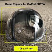 Tapa de lente acrílica de 4 pulgadas, protector de cristal, cubierta de bola óptica del hemisferio, funda impermeable para OwlCat Dome Camera SD13W SD17W 109x57mm