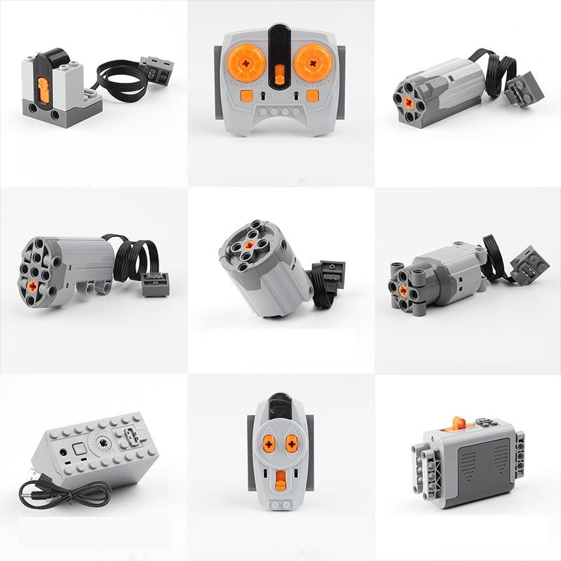 Educativos técnica funciones de potencia de Motor tren Motor IR RX TX Servo de la caja de batería juguetes de bloques Compatible LegoINGs educativos 20004, 20001