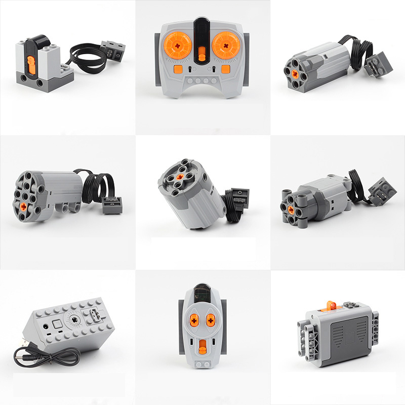 LEPIN Technic Power Functions Motor Set IR RX TX Servo Battery Box Building Blocks Bricks Kids Toys Compatible LegoINGs