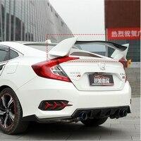 MONTFORD For Honda Civic Spoiler 2016 2017 ABS Plastic Unpainted Primer Color Rear Trunk Boot Wing Lip Spoiler Car Accessories