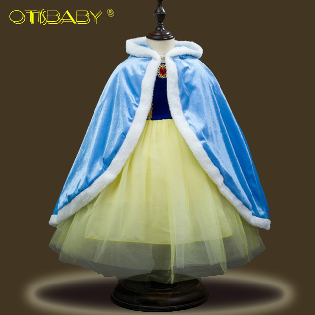 Girls Blue Ball Gown New Movie Princess Cinderella Cosplay Costume Fairy  Tail Children Wedding Party Elegant Sheer Prom Dresses a6f672c60cac