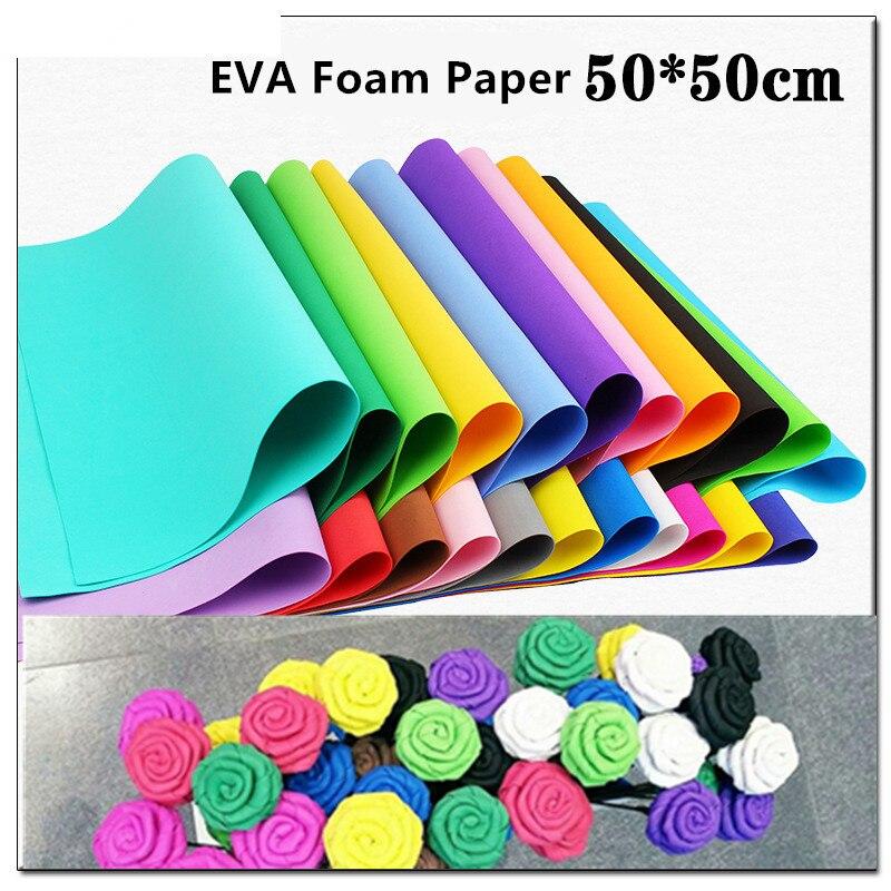 10pcs 50*50cm EVA Foam Paper Handmade Foam Sheets Sponge Paper DIY Handcraft Flowers Materials Kindergarten Rubber Paper