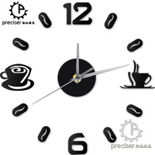 font b Digital b font Number Coffee Cup DIY font b Clock b font Acrylic