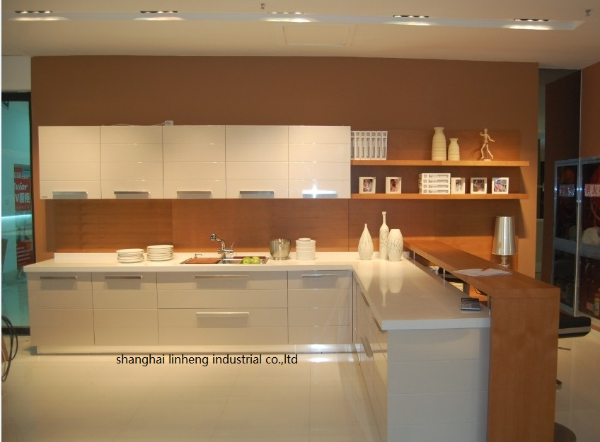 High Gloss/lacquer Kitchen Cabinet Mordern(LH-LA044)