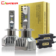 Cawanerl 100W 12000LM/Set Car Headlight Light H4 H7 LED H1 H3 H8 H9 H11 9005 HB3 9006 HB4 ZES 6000K White Auto Fog Lamp Headlamp(China)