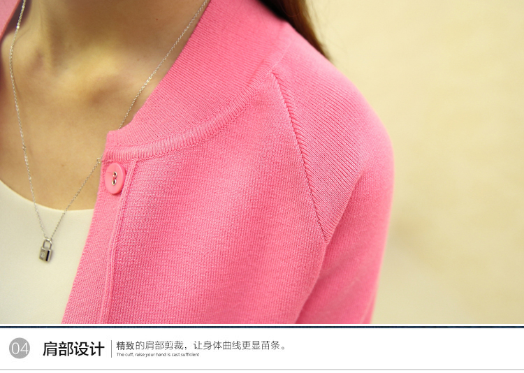 OHCLOTHING New spring summe 19 female knit cardigan sweater coat short female a little shawl knitted jacket female 12 color 46
