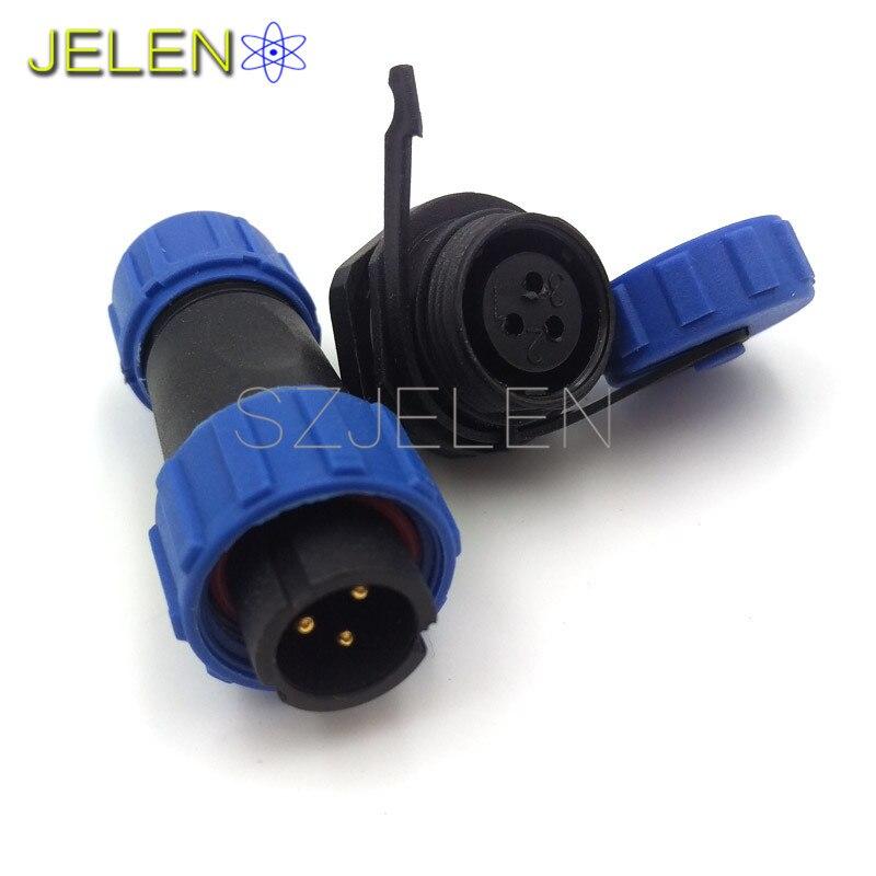 Sp13 3 Pin Waterproof Aviation Connector Plug Socketip68 3 Pin