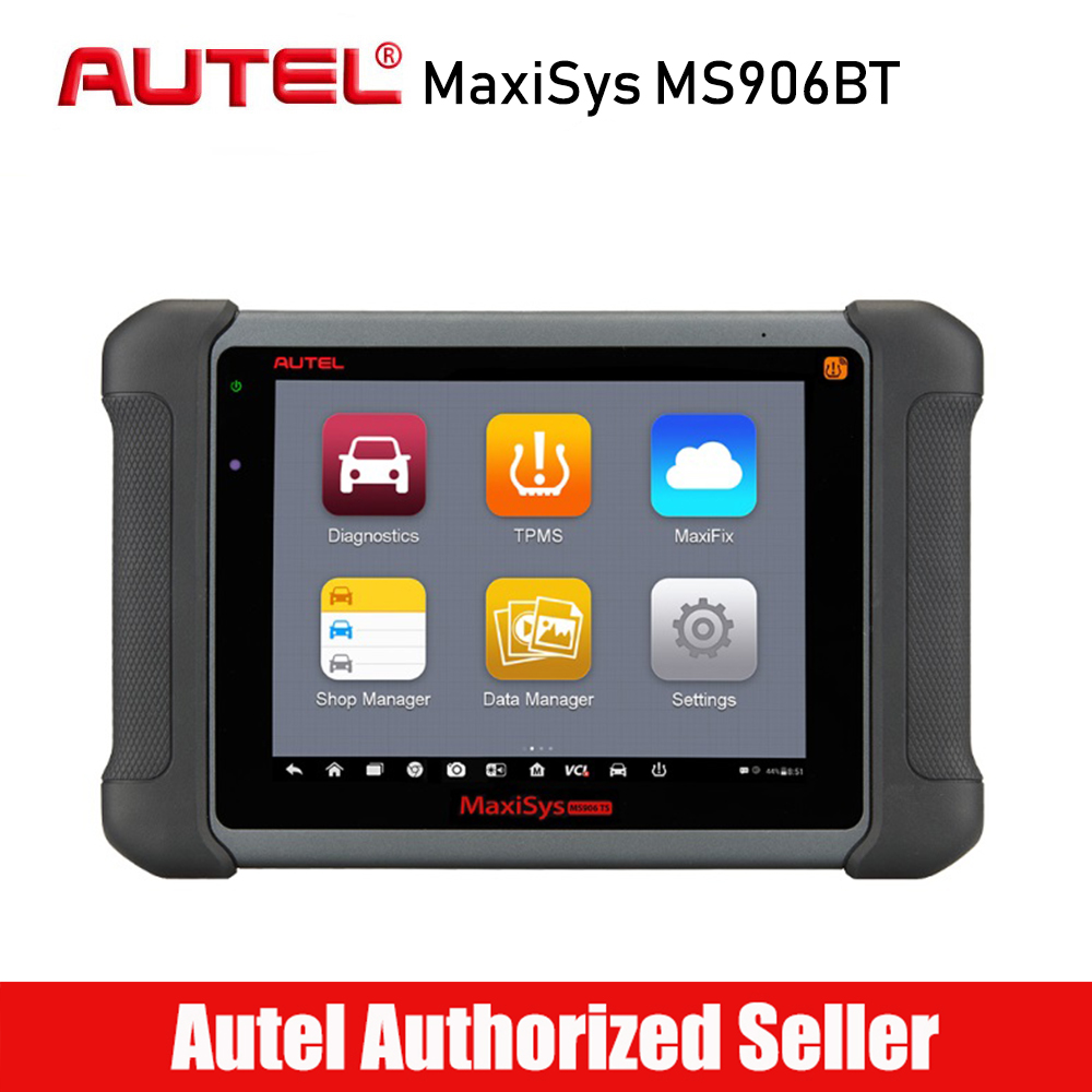 цена на AUTEL MaxiSys MS906BT Car Diagnostic Scanner Full System WIFI for OBDII ECU Coding Diagnostic Tool Free Online Update
