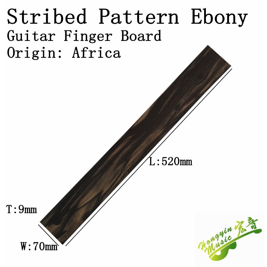 african striped pattern ebony for classical guitar electric guitar acoustic guitar ukulele. Black Bedroom Furniture Sets. Home Design Ideas