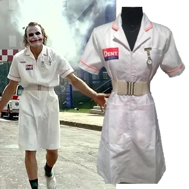 Batman sombre KnightJoker cosplay infirmière robe Halloween infirmières tenue Costumes sur mesure uniforme