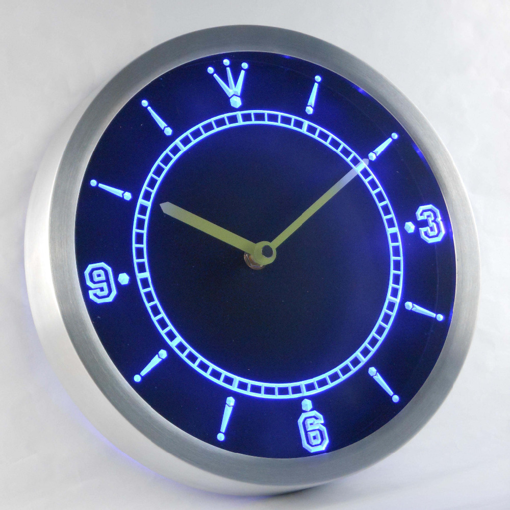 Nc-tm de luz de neón Signss Led relojes de luz de neón de relojes