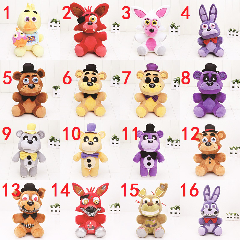 25cm – 30cm FNAF toys Five Nights at Freddy plush toy Bear Fox Bonnie Chica Golden Freddy Nightmare Fredbear Kids Plush Toys