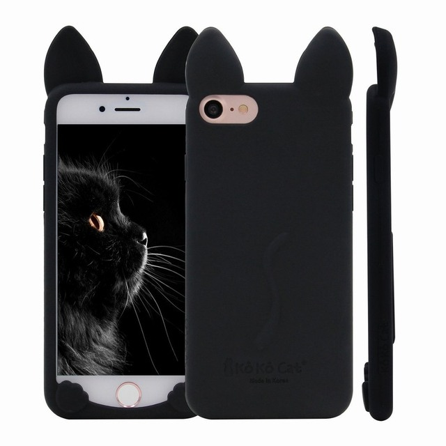 5544f6a63e5c56 For iPhone 6S Case KoKo Cat Soft Silicone Cute Kitty Ears 3D Cover for  Apple iPhone 6 S 7 iPhone6 Shell Mobile Phone Accessories