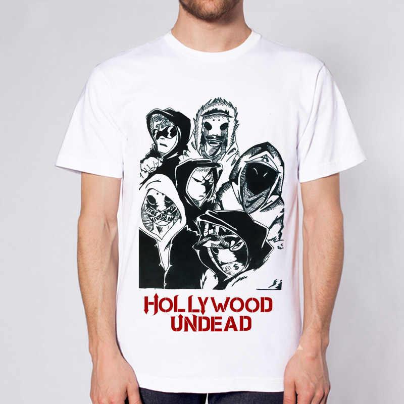 1844e86659e hollywood undead male men t-shirt band music rock n roll new 2017 men t