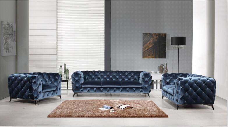 US $1428.0 |Navy divano del soggiorno con soggiorno divano in tessuto-in  Divani da soggiorno da Mobili su AliExpress