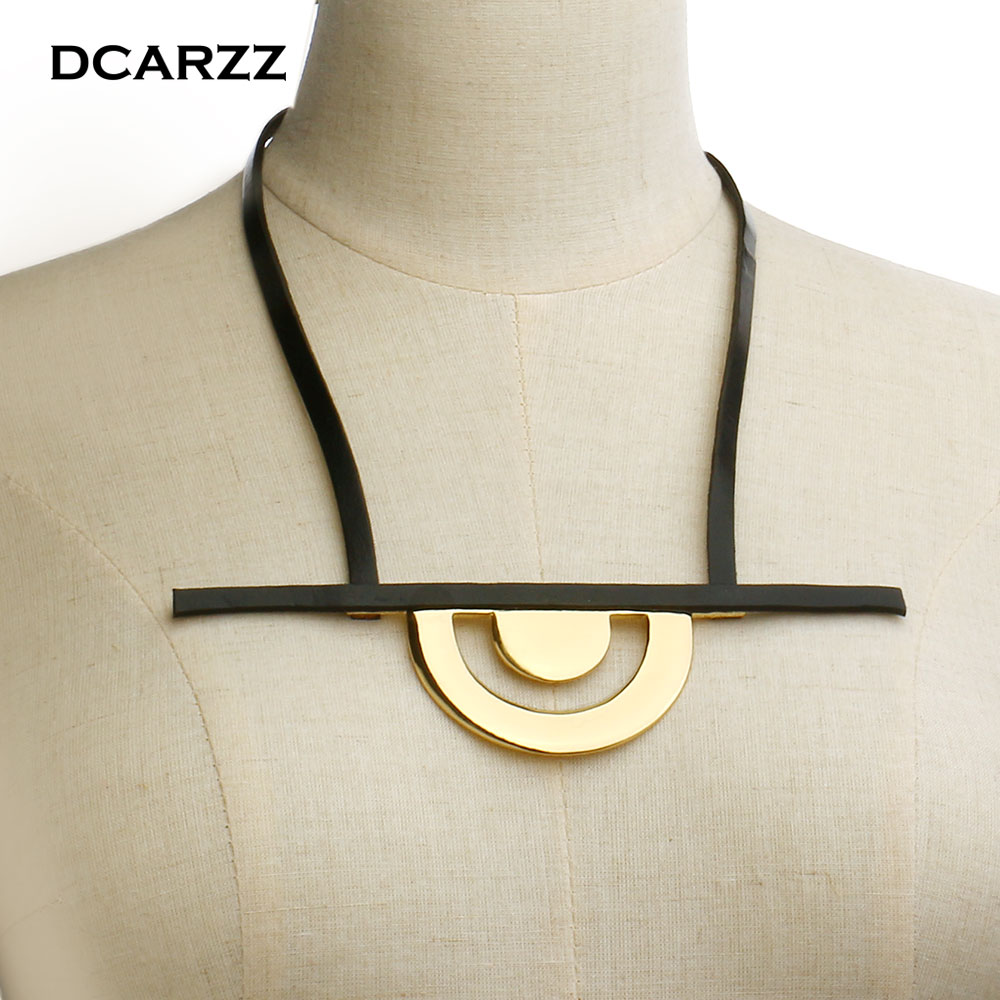 Qi'ra Gold Color Rear Belt Pendant with Leather Rope Handmade Party Jewelry Han Solo:A Story of Star Wars Necklace for Women