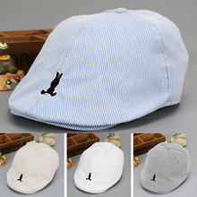 A rayas lindo niños bebé sombrero de la boina de algodón bebé niño niña  sombreros para bebé Beanie Cap niños verano Sol de béisb. 8d129010827