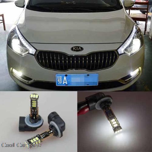 ФОТО 2x 6000k white 881 H27W/2 LED SMD Fog Light Bulb for Hyundai Veloster / Azera HG