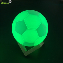 dikale 3D Printing Football Creative FIFA World Cup Touch Switch Light Kids Adults 3D Print Football Lamp 3D Printing Materials