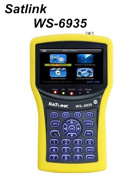 Original SATLINK WS-6935 HD DVB-T/ DVB-T2 wth Spectrum Analyzer Digital Satellite Finder Meter Demodulation QPSK,16QAM,64QAM satlink ws 6918p digital satellite finder with spectrum analyzer and constellation ws 6918p