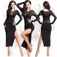 Fashion sexy lace lady Latin dance dress Salsa Tango Ballroom Dance Dress Clothes Dancewear Wear Costumes Cheap For Adults