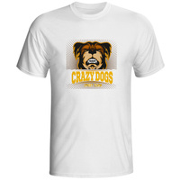 Crazy Dogs Sports Team T Shirt Design Rock Style T Shirt Anime Casual Brand Women Men
