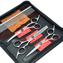 Meisha 6 inch Pet Dog Beauty Scissors Set Japan 440c Hair Cutting Thinning Curved Grooming Shears for Haircut Dogs HB0024 meisha 7 inch professional pet dog grooming styling scissors japan 440c cutting thinning curved shears for haircut hb0054